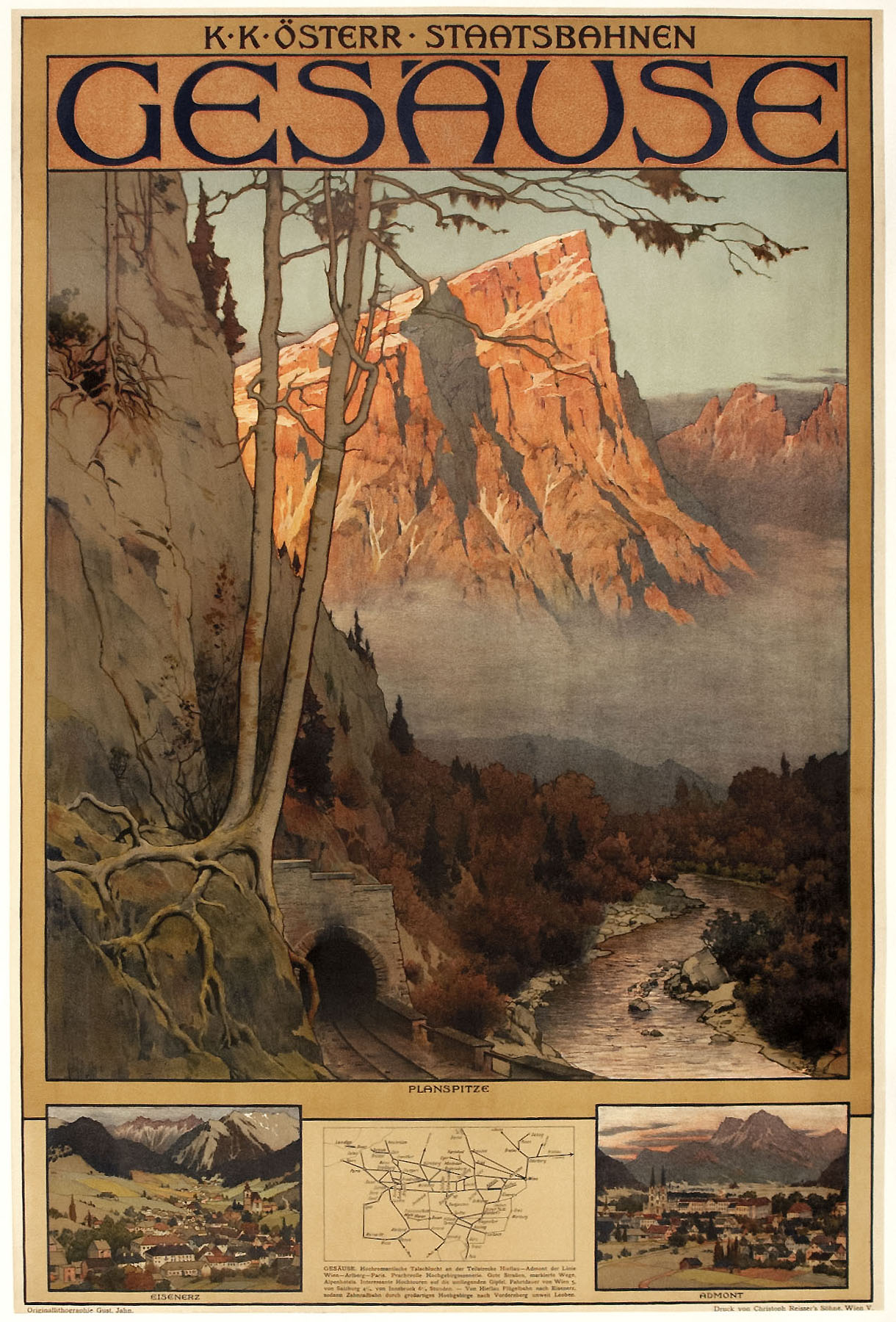 1905 Gesause, in the Austrian Alps, is a climber's
